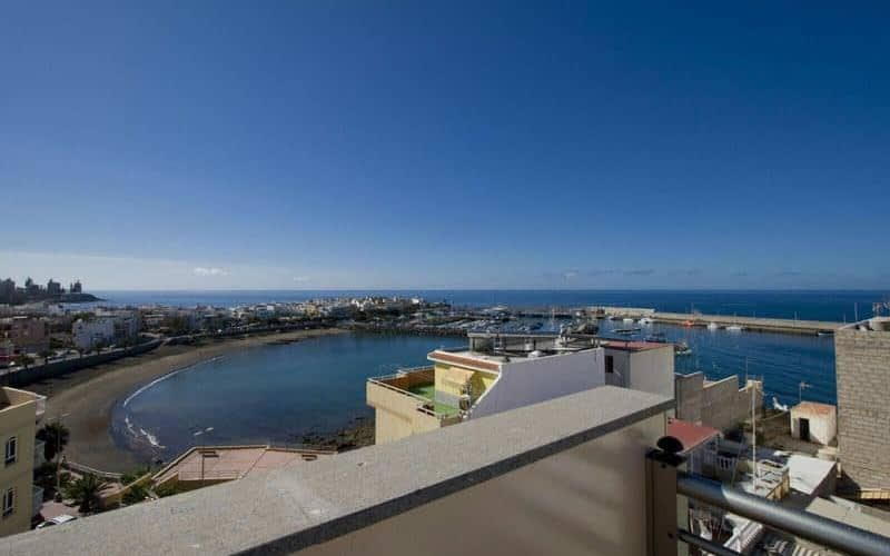 Sea views from roof terrace